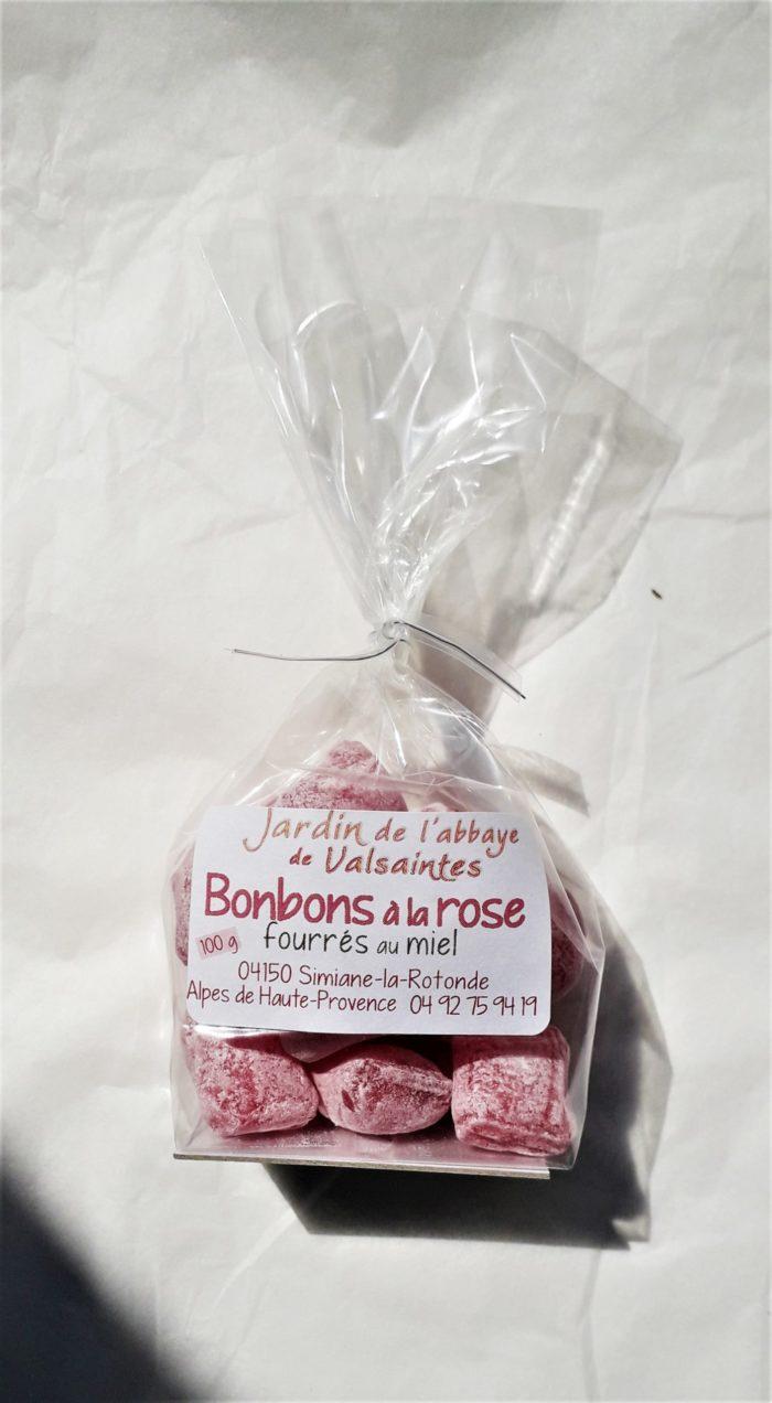 Bonbon à la rose fourrés au miel