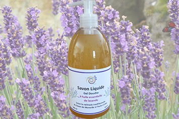 Savon liquide et gel douche aux huiles essentielles de lavande et lavandin bio 500 ml