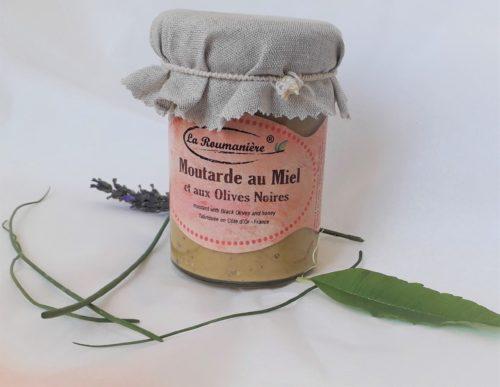 Moutarde au Miel & Olives noires 210g