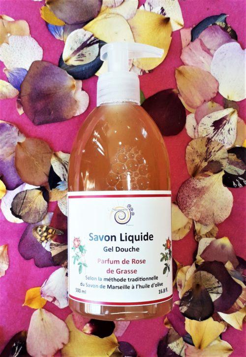 Savon liquide Parfum de roses de Grasse 500ml