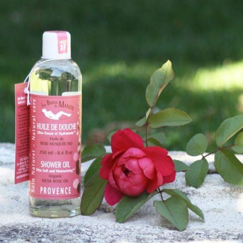 Huile de douche à l'huile de Rose Musquée bio 250 ml