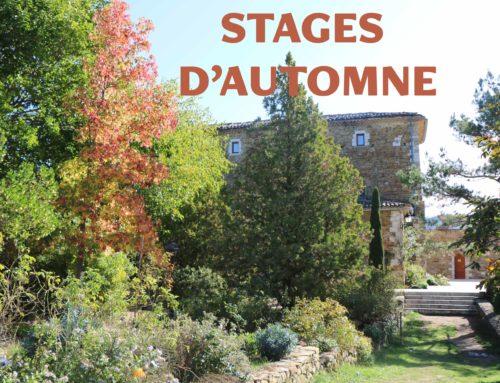 Les stages d'automne