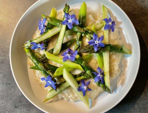 La recette de Valentin – Mai 2021 – Risotto d'asperges vertes de chez Arnaud Dubois
