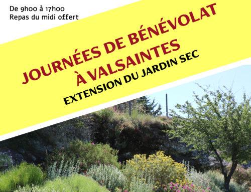 2 nouvelles journées de bénévolat à Valsaintes
